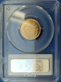 20 Francs Or Nap III Bare Head, 1855 To Chien, Sup / Spl Rare Expertisée Pcgs Ms62