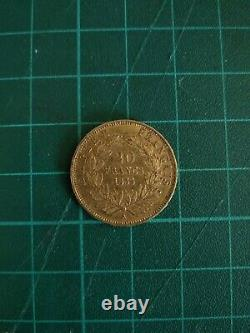 20 Francs Piece Napoleon III Bare-headed Gold From 1855 A