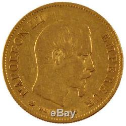Coins, Second Empire, 10 Francs Or Napoleon III Naked Head # 56029