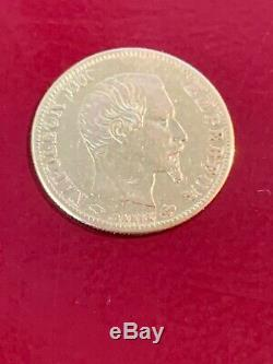 Gold 5 Francs Napoleon III Naked Tete Paris Sup 1859 A 2nd Empire 1852-1870