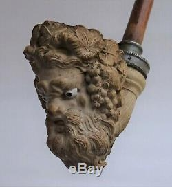 Magnificent Large Pipe Head Of Bacchus 19th