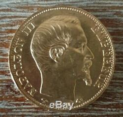 (# N0116) France Piece 20 Francs Or 1859 Napoleon III A Bare Head