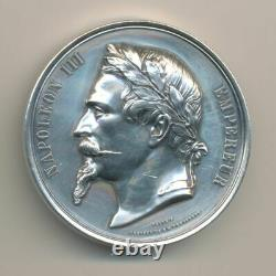 Napoleon III Medal Laure Head Permanent Commission On Silver Values