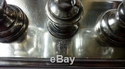 Old Antiquitée Salt And Pepper Sterling Silver Head Minerva 19th