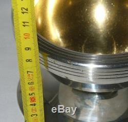 Old Chalice In Sterling Silver Punch Neck Brace Lithurgy Art Deco 1925