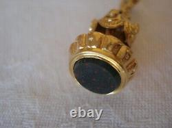 Pendant Seal In Yellow Gold And Jasper Blood Stamp Daigle Head