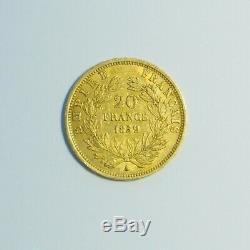 Piece Gold Gold 20 Francs Napoleon III Tete Naked Year 1859 A Gold Coin France