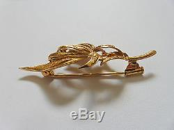 Pin Magnificent 18 Carat Gold Eagle Head Napoleon III Weight 7.3 Gr