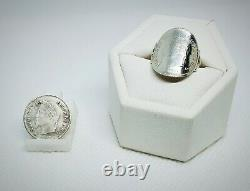 Ring Coin 20 Centimes Napoleon III Silver Laure Head