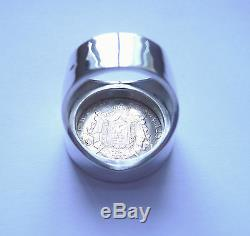 Signet Round Silver Coin 20 Francs Or Napoleon III Laureate Head