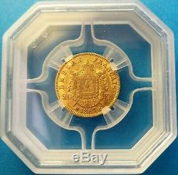 Super 20 Francs Or Nap III Head Laurée 1867 Grand Bb Appraised Geni Sup58