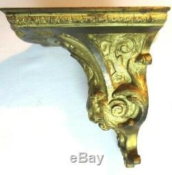 Wall Console Napoleon III Bronze Lion Head And Acanthus Style Louis XV